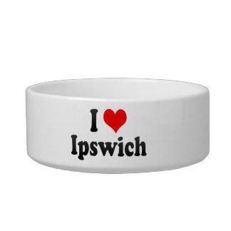 I Love Ipswich, United Kingdom Cat Water Bowl