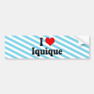 I Love Iquique, Chile Bumper Sticker