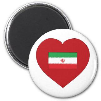 I Love Iran 2 Inch Round Magnet