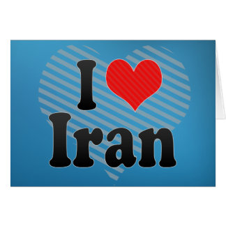 I Love Iran Greeting Cards