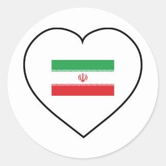 I Love Iran Classic Round Sticker