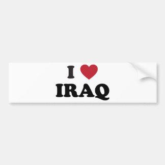 I Love Iraq Bumper Sticker