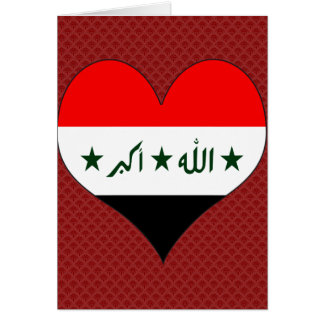 I Love Iraq Card