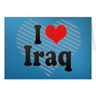 I Love Iraq Greeting Card