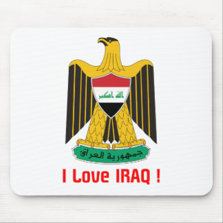 i love IRAQ-design 1from 933958store Mouse Pad