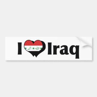 I Love Iraq Flag Bumper Sticker