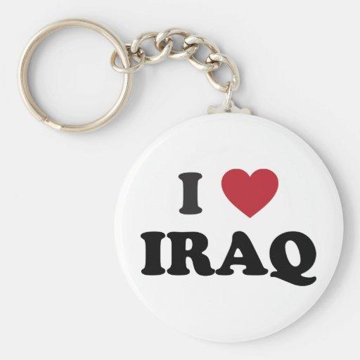 I Love Iraq Keychain