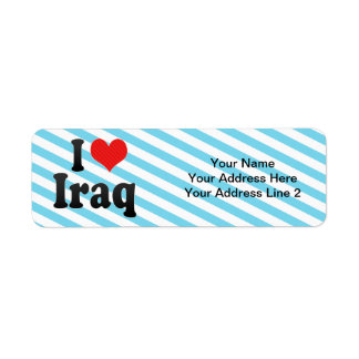 I Love Iraq Return Address Label