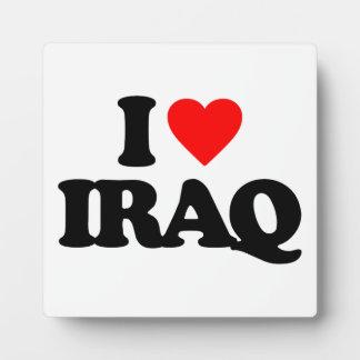 I LOVE IRAQ DISPLAY PLAQUE