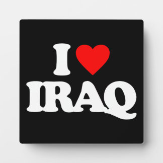I LOVE IRAQ PLAQUE