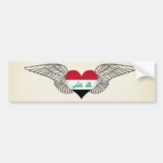 I Love Iraq -wings Bumper Sticker