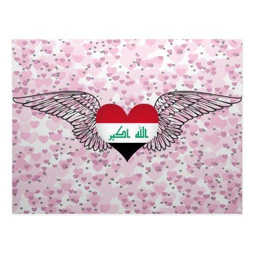 I Love Iraq -wings Postcard
