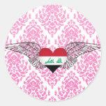 I Love Iraq -wings Stickers