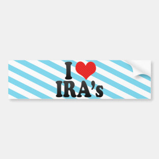 I Love IRA's Car Bumper Sticker