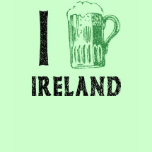 I Love Ireland Beer T-Shirt - Also known as 'I Beer Ireland'