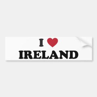 I Love Ireland Car Bumper Sticker