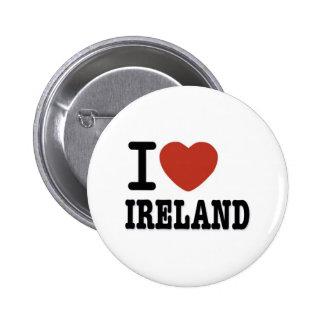 I LOVE IRELAND PINBACK BUTTON