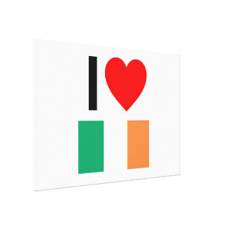 i love ireland canvas print