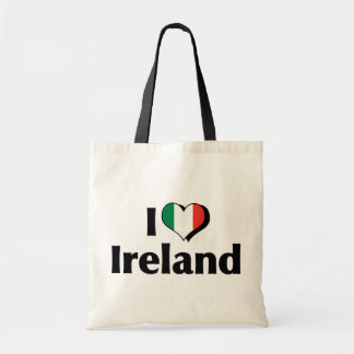 I Love Ireland Flag Canvas Bag