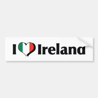 I Love Ireland Flag Bumper Sticker