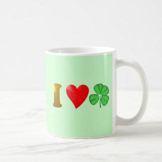 I love Ireland I love Irish country clover sheet s Coffee Mug
