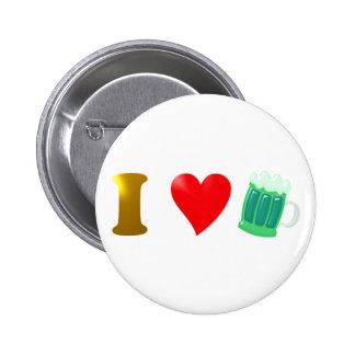 I love Ireland I love Irish country green beer Pinback Buttons
