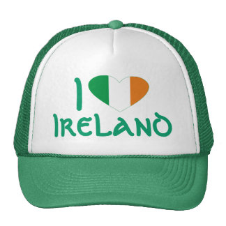 I love Ireland Irish Flag Heart Hat