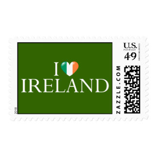 """""""I love Ireland"""" postage stamp"""