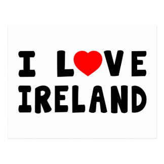 I Love Ireland Postcard