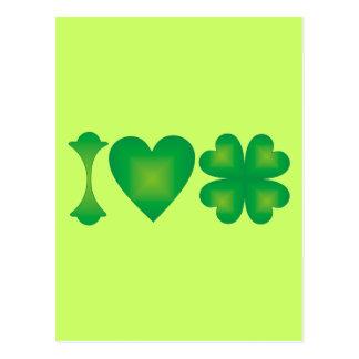 I Love Ireland Postcard