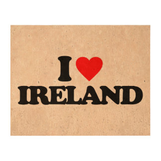I LOVE IRELAND QUEORK PHOTO PRINT