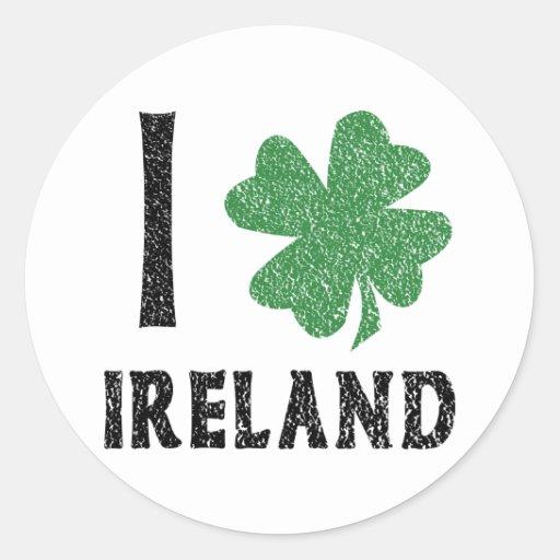 I Love Ireland Sticker