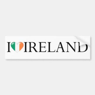 """I love Ireland"" sticker Car Bumper Sticker"