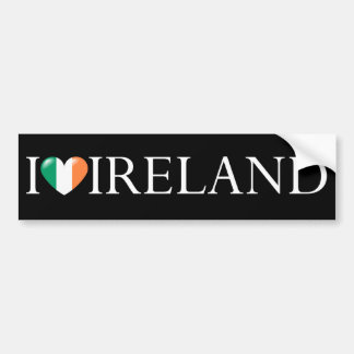 """I love Ireland"" sticker Bumper Stickers"