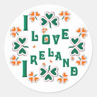 I LOVE IRELAND  ~ Stickers