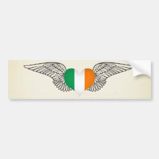 I Love Ireland -wings Car Bumper Sticker