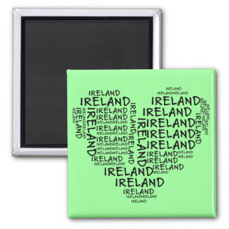 I Love Ireland With All My Heart (Symbolic Words) Magnet