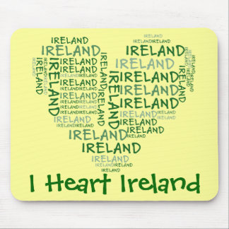 I Love Ireland With All My Heart (Symbolic Words) Mouse Pad