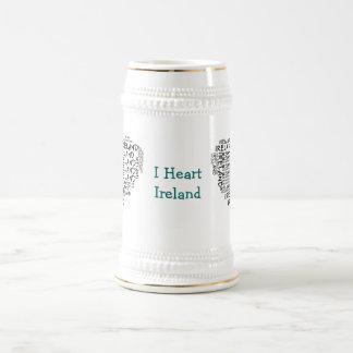 I Love Ireland With All My Heart (Symbolic Words) Coffee Mug