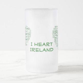 I Love Ireland With All My Heart (Symbolic Words) Coffee Mugs