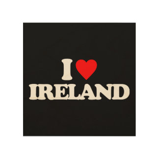 I LOVE IRELAND WOOD WALL ART