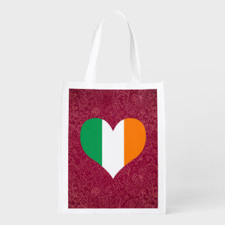 I Love Ireland Grocery Bags