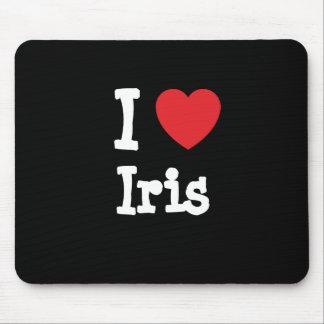 I love Iris heart T-Shirt Mouse Pad