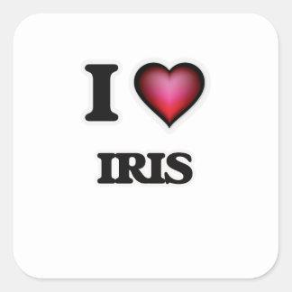 I Love Iris Square Sticker