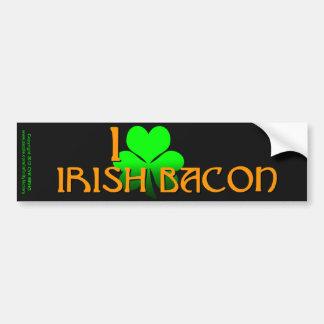 I Love Irish Bacon Car Bumper Sticker