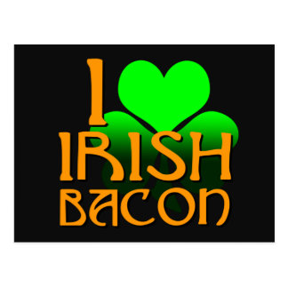 I Love Irish Bacon Postcard