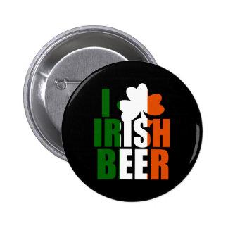 I LOVE IRISH BEER PINS