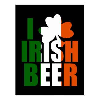 I LOVE IRISH BEER POSTCARD