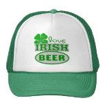 I Love Irish Beer St. Patrick's Gift Trucker Hats