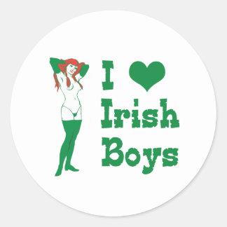 I Love Irish Boys Classic Round Sticker